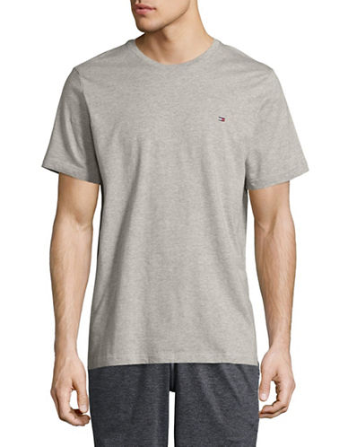 Tommy Hilfiger Core Flag T-Shirt-GREY HEATHER-Large