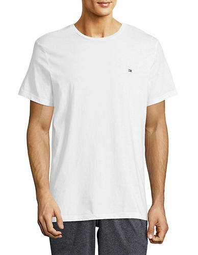 Tommy Hilfiger Core Flag T-Shirt-WHITE-X-Large