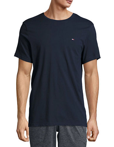 Tommy Hilfiger Core Flag T-Shirt-DARK NAVY-Large
