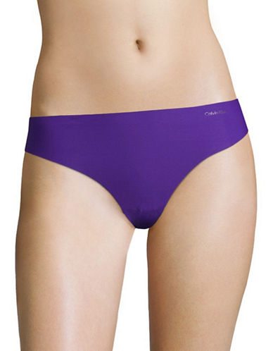 Calvin Klein Invisibles Stretch Thong-POLYMER BLUE-Small