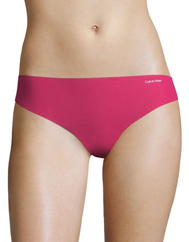 Calvin Klein Invisibles Stretch Thong-TRANSLUCENT PINK-X-Small