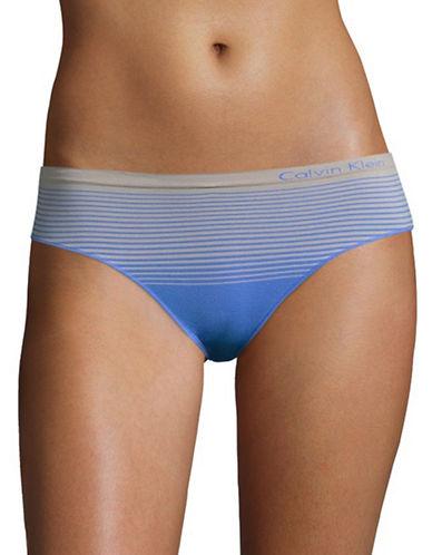 Calvin Klein Seamless Striped Hipster Briefs-STILL BLUE-X-Large