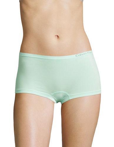 Calvin Klein Pure Seamless Boyshort Briefs-LAKE BLUE-Small