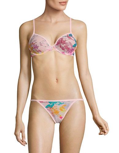 Calvin Klein Unlined Underwire Demi Bra-TRASNFORMATION FLORAL-34C