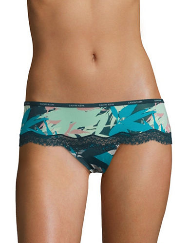 Calvin Klein Lace Hipster Panty-SUBLIME PRINT-X-Large