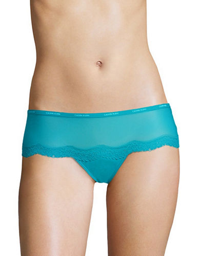 Calvin Klein Lace Hipster Panty-BLUE PERPETUA-X-Small