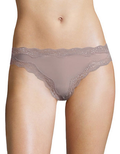 Calvin Klein Lace Trim Micro Thong-VIOLET DUST-Small