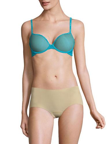 Calvin Klein Mesh Underwire Demi Bra-BLUE-32C