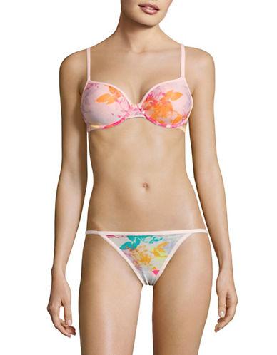 Calvin Klein Mesh Underwire Demi Bra-TRANSFORMATION FLORAL-36C