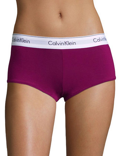 Calvin Klein Modern Cotton Boy Shorts-FATHOM-Large