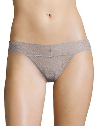 Calvin Klein Sheer Lace Thong-WATER STONE-Large