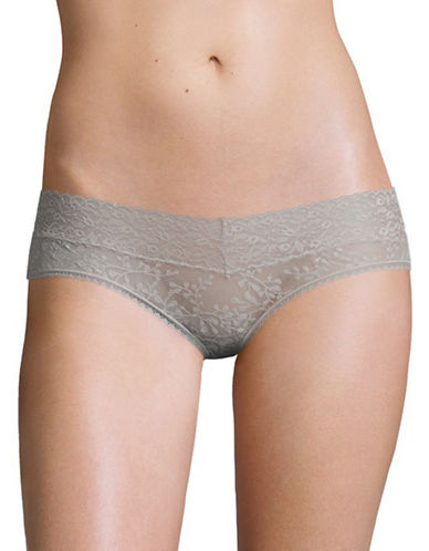 Calvin Klein Sheer Lace Hipster Briefs-WATER STONE-Small