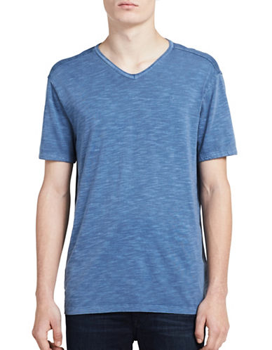 Calvin Klein Jeans Mixed Media V-Neck Tee-LIGHT BLUE-Small