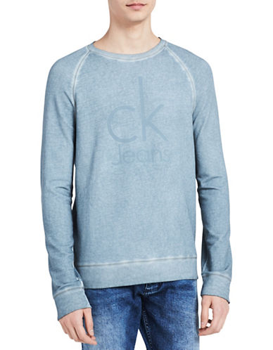 Calvin Klein Jeans Cotton Logo Sweatshirt-GREY-Medium