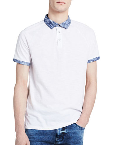 Calvin Klein Jeans Cotton Polo-WHITE-Medium
