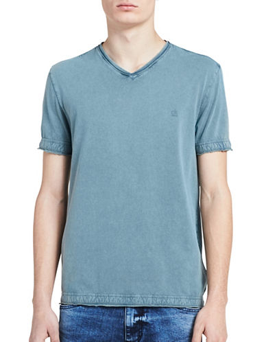 Calvin Klein Jeans Weekend Acid Wash Tee-LIGHT BLUE-Small