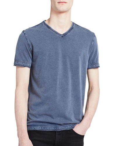 Calvin Klein Jeans Weekend Acid Wash Tee-DARK BLUE-Large