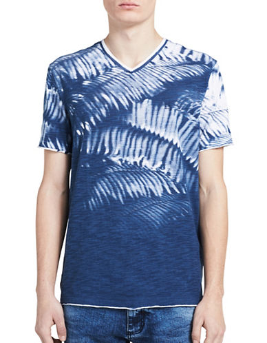 Calvin Klein Jeans Weekend Palms V-Neck T-Shirt-BLUE-X-Large 89217024_BLUE_X-Large