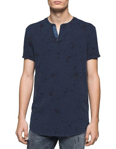 Calvin Klein Jeans Splatter Print T-Shirt-INDIGO-Large