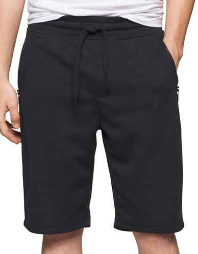 Calvin Klein Jeans Rebel Sport Mesh Shorts-BLACK-Small