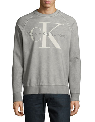 Calvin Klein Jeans Washed Re-Issue Sweater-GREY-Small 89299986_GREY_Small