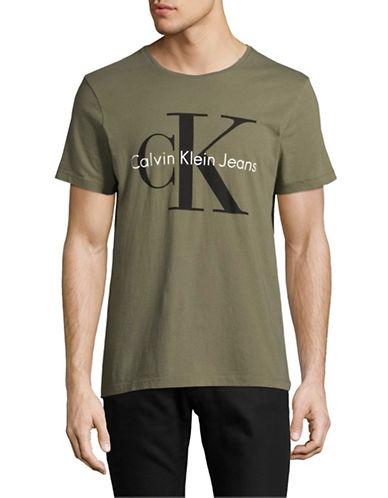 Calvin Klein Jeans CK Jeans Logo T-Shirt-GREEN-Large
