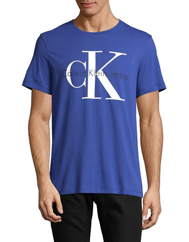 Calvin Klein Jeans CK Jeans Logo T-Shirt-BLUE-Small 89300006_BLUE_Small