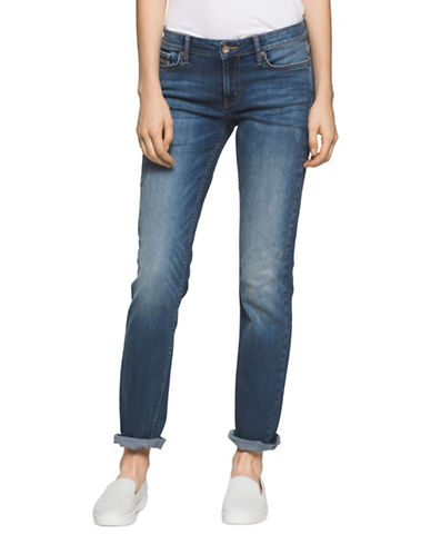 Calvin Klein Jeans Slim Fit Jeans-BLUE-28