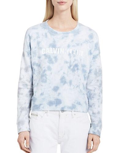 Calvin Klein Jeans Tie Dye Logo-Print Sweatshirt-GLOOMY GREY-Large 89221794_GLOOMY GREY_Large