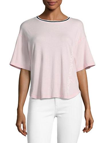 Calvin Klein Jeans Stripe Trim T-Shirt-POTPOURRI-Medium