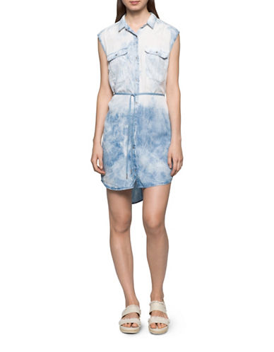Calvin Klein Jeans Light Wash Denim Dress-JACKSON-Large