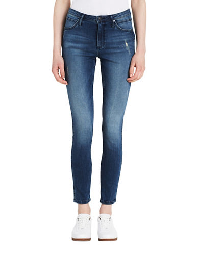 Calvin Klein Jeans Distressed Skinny Jeans-NIMBUS-28