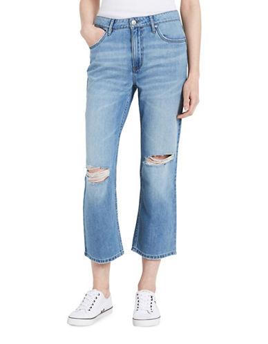 Calvin Klein Jeans Whisper Weight Cropped Boyfriend Jeans-BLUE MARINA-30