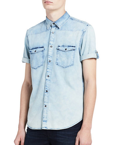 Calvin Klein Jeans Classic-Fit Light Wash Denim Shirt-INDIGO-Large 89217009_INDIGO_Large