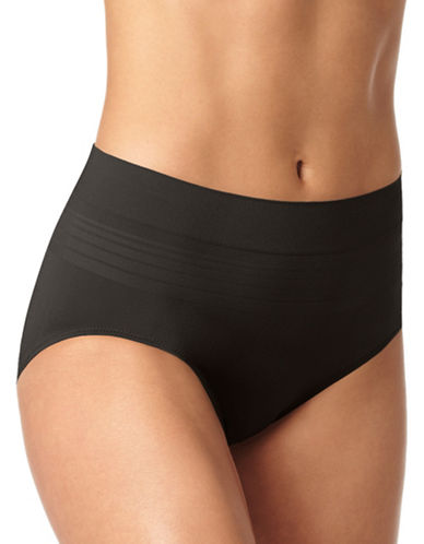 WarnerS High Waist Seamless Panty-BLACK-Large
