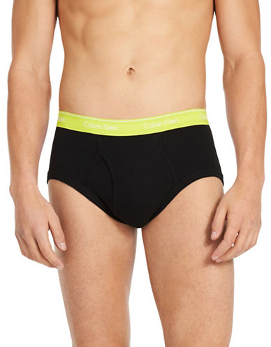 Calvin Klein Pack of Four Classic Cotton Briefs-BLACK-X-Large