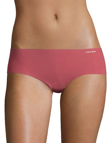 Calvin Klein Invisibles Hipster Briefs-DARK RED-Small