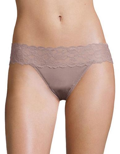 Calvin Klein Lace Bikini Panty-VIOLET-Large