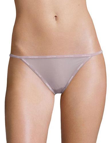 Calvin Klein String Bikini Panty-VIOLET-Medium