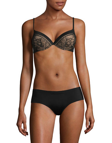 Calvin Klein Obsession Plunge Push-Up Bra-BLACK-34DD