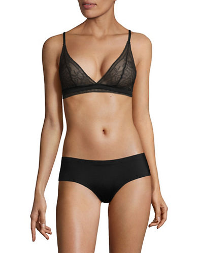 Calvin Klein Obsess Triangle Bra-BLACK-Medium