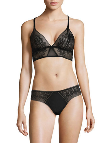 Calvin Klein Excite Triangle Bralette-BLACK-X-Small