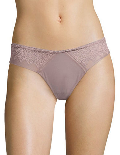 Calvin Klein Excite Thong-PURPLE-Large