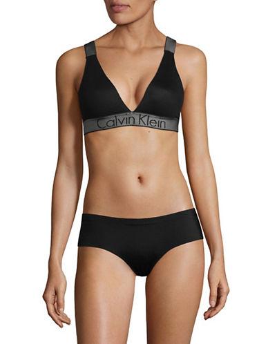Calvin Klein Stretch Intuition Bralette-BLACK-Medium