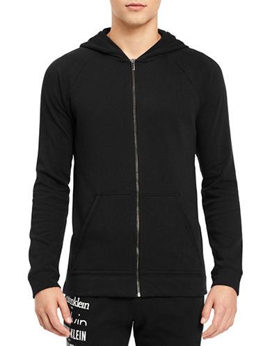 Calvin Klein Logo Lounge Hoodie-BLACK-Small