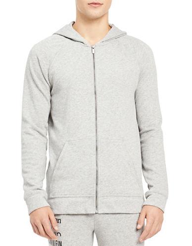 Calvin Klein Logo Lounge Hoodie-GREY-Medium