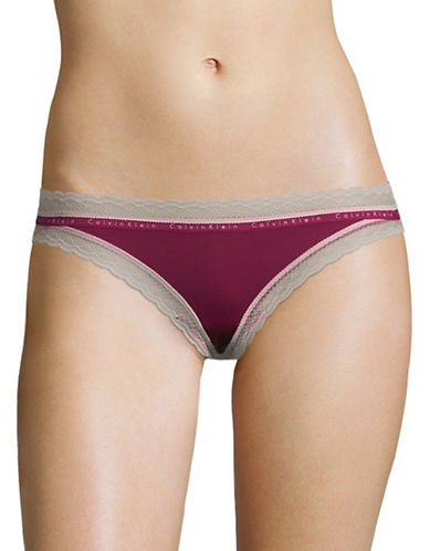 Calvin Klein Signature Lace Bikini Briefs-PURPLE-Small