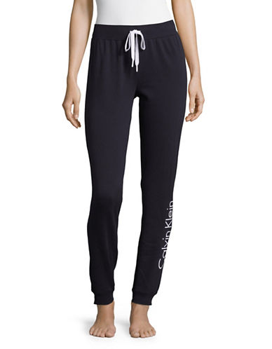 Calvin Klein Logo Sleep Sweatpants-BLUE-Small