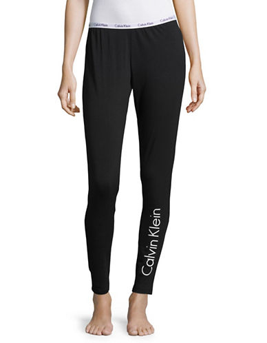 Calvin Klein Carousel Leggings-BLACK-Small