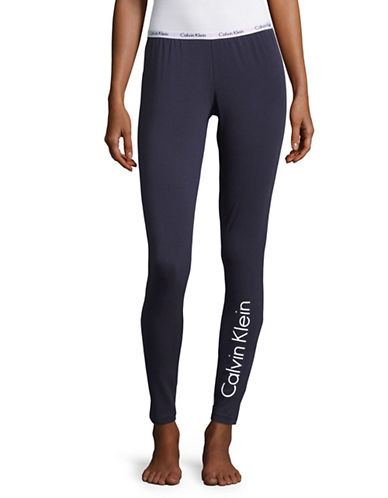 Calvin Klein Carousel Leggings-BLUE-Medium